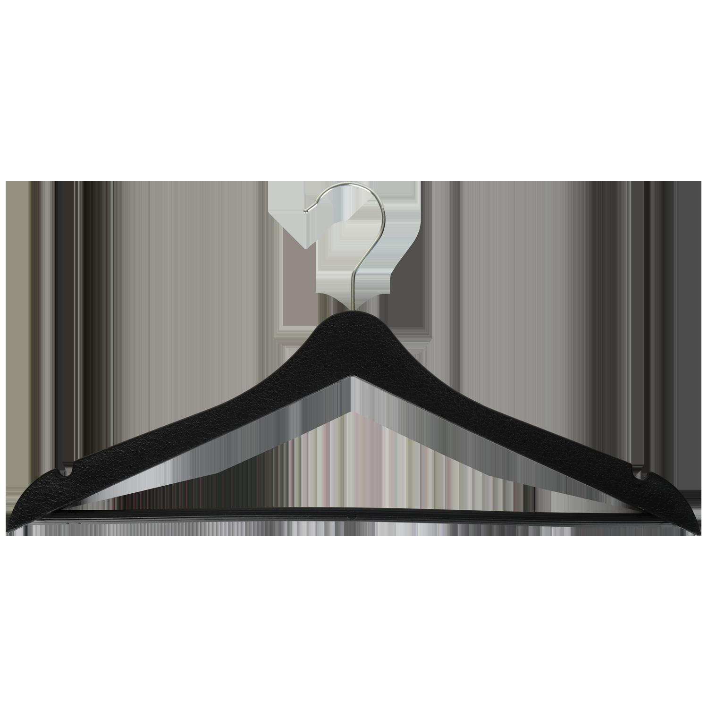 Siyah Elbise Askısı - Aydo Home Plastik 3lü Elbise Askısı